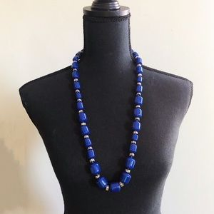 Jcrew Blue Beaded Monotone Necklace